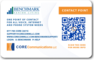 Core Comm Benchmark support card