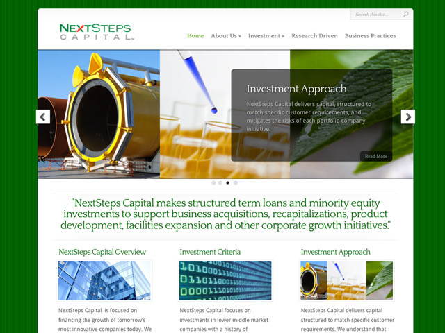 NextSteps Capital WordPress Site