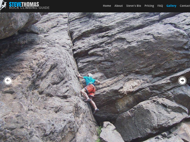 Steve Thomas Climbing Guide Website