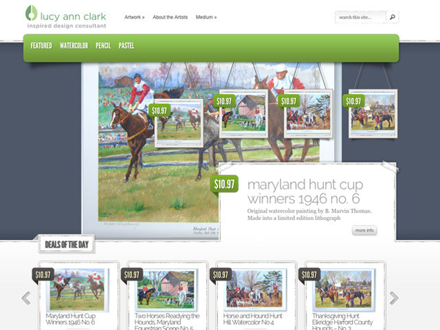 B. Marvin Thomas Horse Racing – WordPress E-commerce