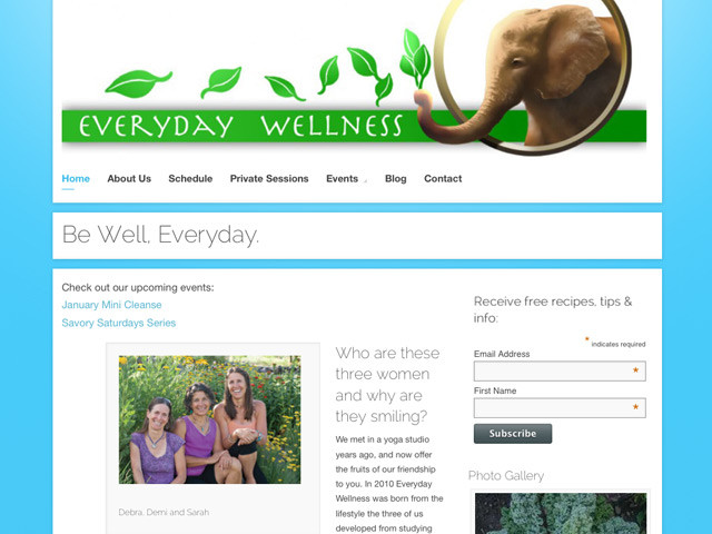 Everyday Wellness – WordPress site