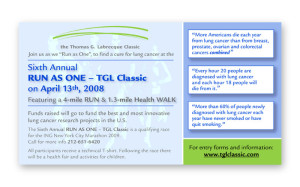 TGL Classic Email Ad NYC Race Promotion