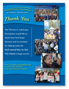 TGL Classic Thank You Ad NY Road Runners