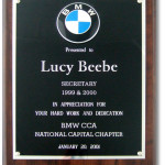 Lucy Beebe Clark BMW Car Club of America Secretary