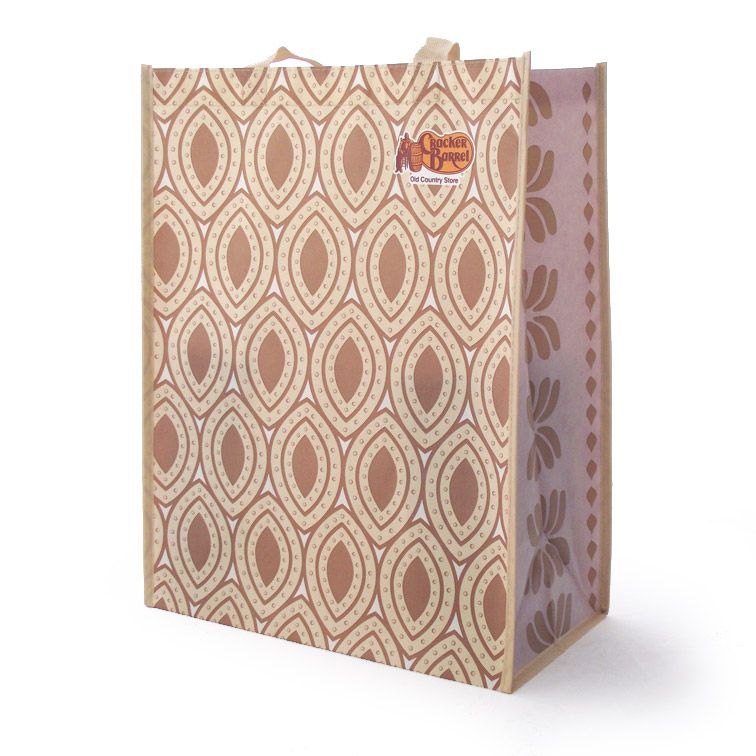 Winter White themed reusable shopping bag for Cracker Barrel store sales